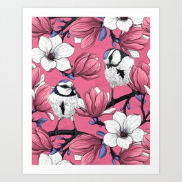 Spring time in pink Art Print