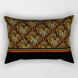 Tiger Stripe Mosaic Tile Modern Abstract Rectangular Pillow