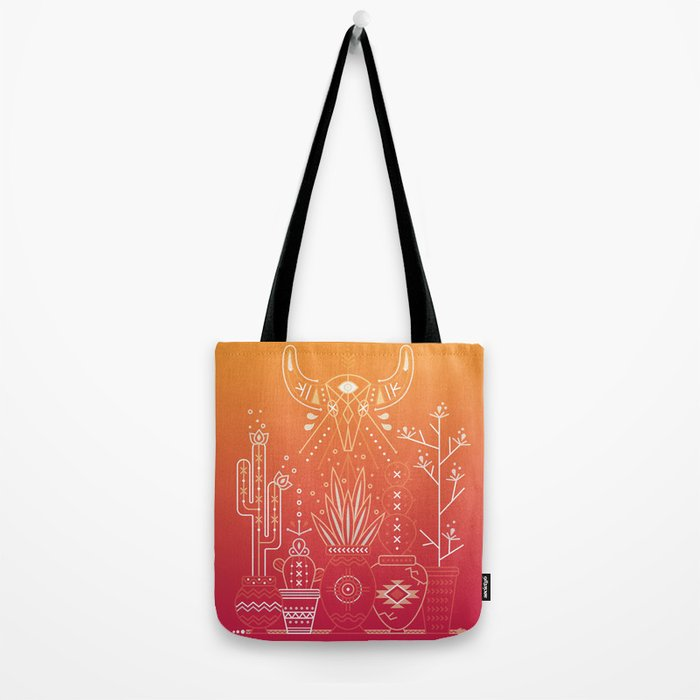 Santa Fe Garden – Orange Sunset Tote Bag