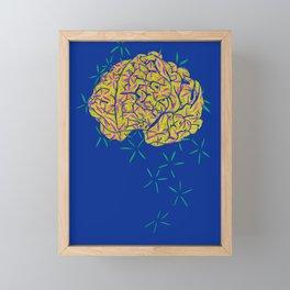 Floral Brain Framed Mini Art Print
