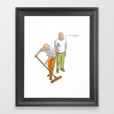 You're doing it all wrong! Framed Art Print