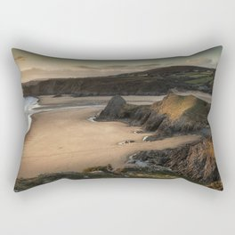 Three Cliffs and The Great Tor Rectangular Pillow