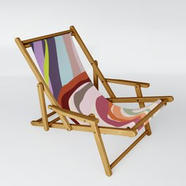 Id, Ego and Superego abstract and colorful Sling Chair