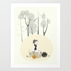 Our Elf of the Harvest Art Print