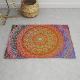 Mandala Glitch Solar Rug