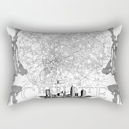 Charlotte Map Rectangular Pillow