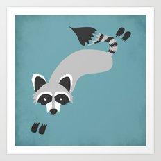 Robby Raccoon Art Print