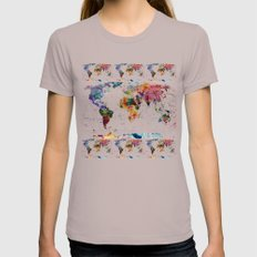 map Womens Fitted Tee Cinder SMALL