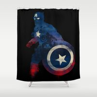 justice Shower Curtains featuring For Truth And Justice by dan elijah g. fajardo