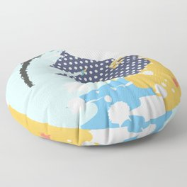 mininal century brush painted VI Floor Pillow