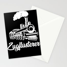 Railway train whisperer locomotive conductors Stationery Cards