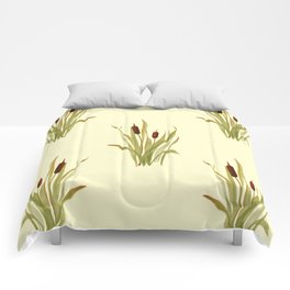 summer cattails Comforters