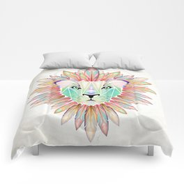 lion colorful Comforters