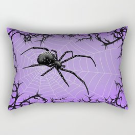 Briar Web- Purple Rectangular Pillow