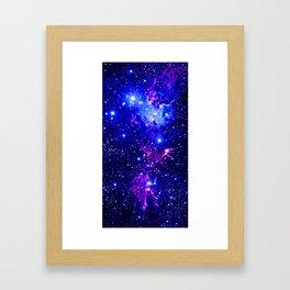 Fox Fur Nebula Galaxy blue purple Framed Art Print
