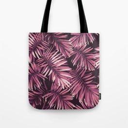 Rose palm leaves Tote Bag