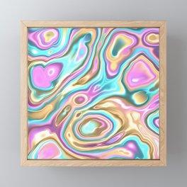 Pastel Blobs Framed Mini Art Print