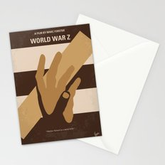 No783 My World War Z minimal movie poster Stationery Cards