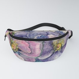Bachelor Buttons and Wild Roses Fanny Pack