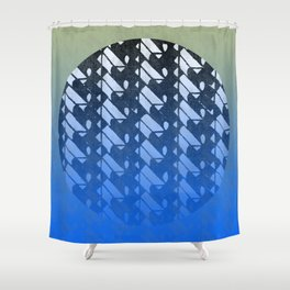 lunar zen Shower Curtain