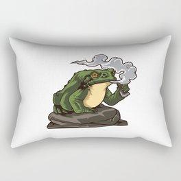 Vaping Toad | Vape Vaper Frog Animal Chill Relax Rectangular Pillow