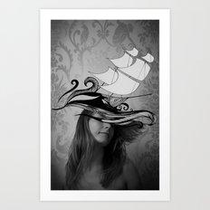 If I were a ship Art Print