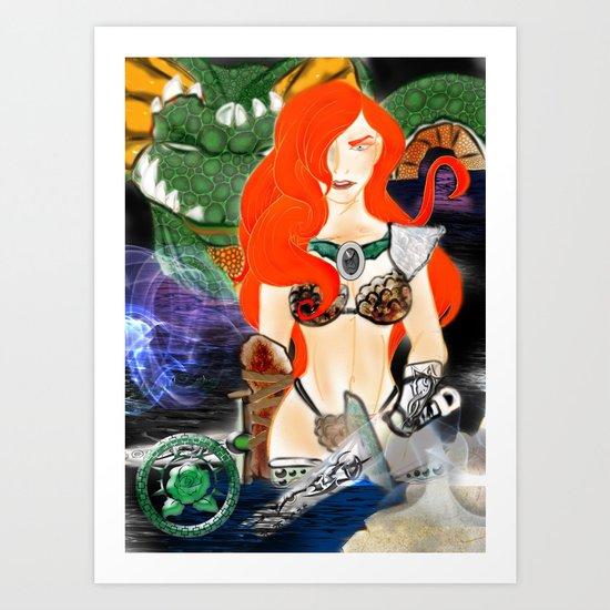 Warrior Lady.  Art Print