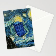 Tardis Dr. Who Starry Night Stationery Cards