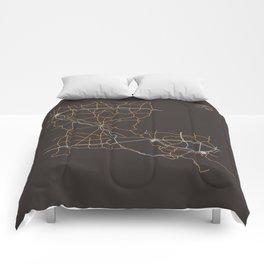 Louisiana Highways Comforters