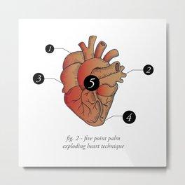 Five Point Palm Exploding Heart Technique Metal Print