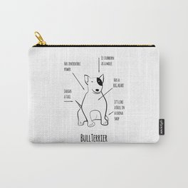Funnny Bullterrier Carry-All Pouch