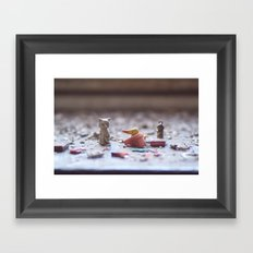 lethal cuteness Framed Art Print
