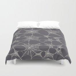 Spiderweb Pattern in Black Duvet Cover
