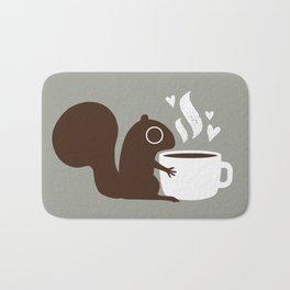 Squirrel Coffee Lover | Cute Woodland Animal Badematte