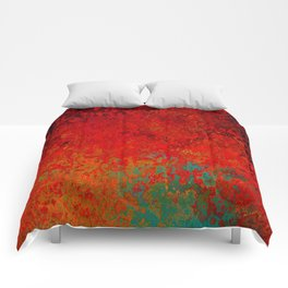 Figuratively Speaking, Abstract Art Comforters