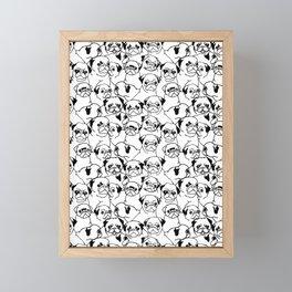 Oh Pugs Framed Mini Art Print
