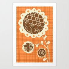 Retro Sunshine Bouquet Art Print