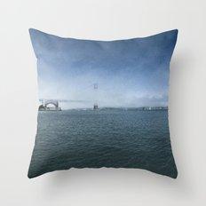 Golden Gate Bridge + Fog Throw Pillow