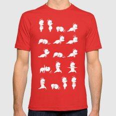 Yoga Bear - Polar Bear Mens Fitted Tee SMALL Red