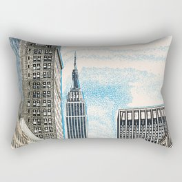 The Empire State New York Rectangular Pillow