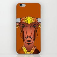 bull iPhone & iPod Skins featuring Bull by ale_z