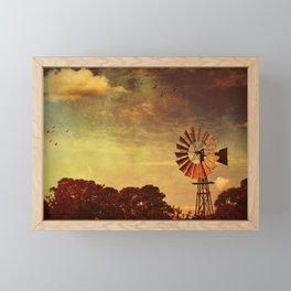 Rustic Vintage Windmill Framed Mini Art Print
