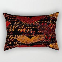 Kiss Me, Miss Me Red Rectangular Pillow