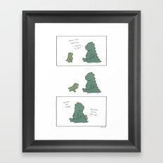 Santa Claws  Framed Art Print