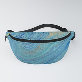Turquoise Blue Watercolor Fanny Pack