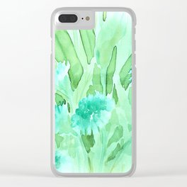 Soft Watercolor Floral Clear iPhone Case