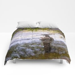 Trout fishing Comforters