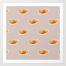 What I miss the most: Food Pattern Art Print