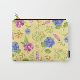 Hydrangea on yellow Carry-All Pouch