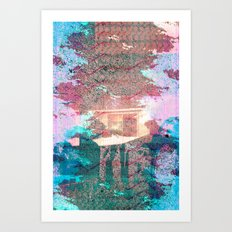 Lunar Arboretum Art Print